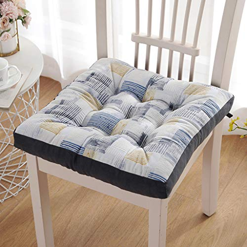 QVIVI Padded Cushion Chair Seat Pads for Dining Chair Seat Pad Garden Living Room Office Sofa Chair Cushions 40x40 cm with Ties B