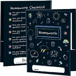 Really Good Stuff Chalkboard Motif Homework Folders