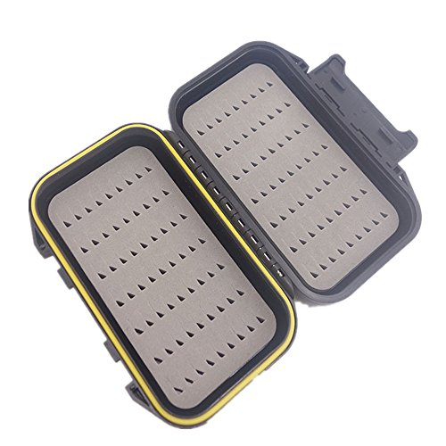 sunnymi 2018 Fischköder Fall Box Wasserdichtes Getriebe ❤️ ABS Hartplastik ❤️ Fliegenfischen Köder Haken Aufbewahrungskoffer (Schwarz)