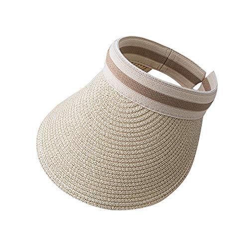 Sonnenhut Topless Kappe Strand beige Urlaub Sonnenschutz vielseitig leicht zu tragen schweißabsorbierend atmungsaktiv ausgezeichnete Sonnenschutz Artefakt