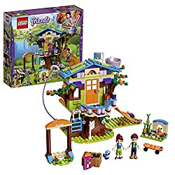 Build this LEGO friends set with a treehouse toy accessed by ladder or climbing net, skateboard, zip wire, attic with opening roof, storage boxes and an outdoor bunny house Set includes mia and Daniel mini-doll figures, plus mimì the bunny and cinnam...