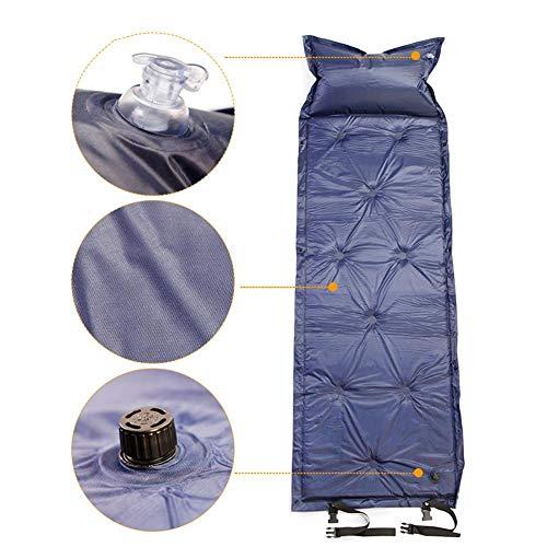 VENTDOUCE Auto aufblasbares Bett, tragbare wasserdichte feuchtigkeitsfeste klappbare Picknickmatte aufblasbare Auto-Luftmatratze Schlafmatte aufblasbares Kissen für Campingreisen im Freien