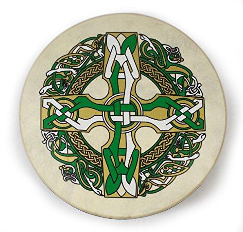 Waltons 15 Inch Gaelic Celtic Burn Bodhrán - Handcrafted Irish Instrument - Crisp & Musical Tone - Hardwood Beater Included w/Purchase