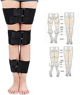 zinnor Leg Correction Device, XO-Type Leg Correction Belt, Correction Brace Belt Knock Knees Valgus Deformity Bow Legs Band Straighten Belt Durable Diving Material Black