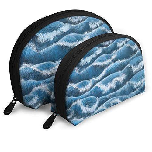 Große Wellen, raue Muschelform, tragbare Taschen, Clutch, Münzbörse, Kosmetiktasche, Unisex,...