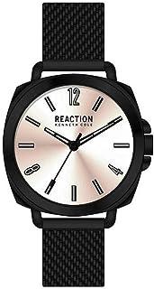للنساء من Kenneth Cole Reaction كوارتز معدنية و ساعة يد من الفولاذ المقاوم للصدأ كاجوال ، اللون: أسود (موديل: rk50100001)
