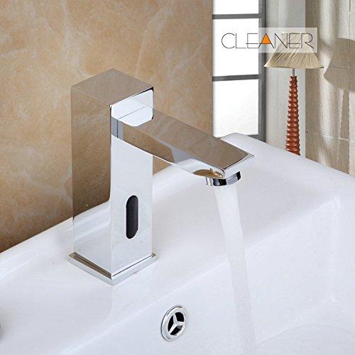 Schwarzer Waschbecken Wasserhahn Automatische Berührungserkennung Wasserhahn Badezimmer Messing Waschbecken Verchromt Wasserhahn Mixer Wasserhahn Mixer Free Touch A
