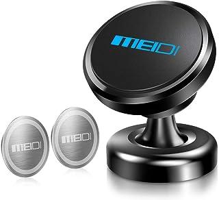 MEIDI Armaturenbrett Handyhalterung Auto Magnet, Magnetische Handyhalter fürs Auto mit Klebrige Basis, Einstellbar KFZ Handy Halterung Kompatibel für iPhone 11 Pro XS XR X 8 7 Samsung Huawei   Schwarz