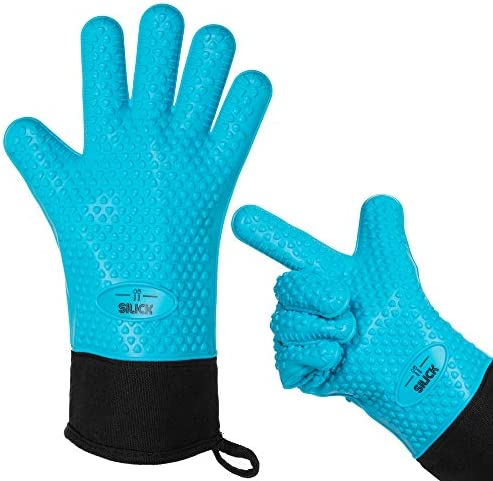 SILICK Premium Silicone Oven Gloves Heat Resistant Cooking Gloves Perfect for USE AS Grilling product image