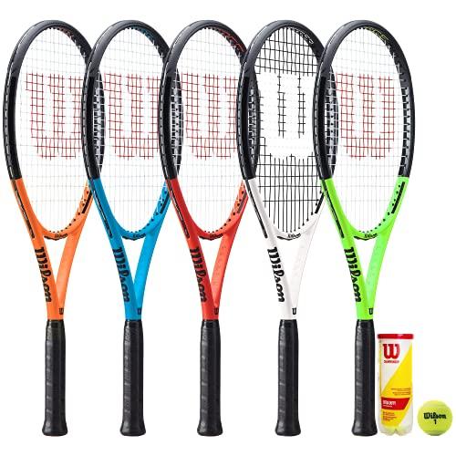 Wilson Tour XP - Raqueta de tenis de grafito y 3 pelotas de tenis Wilson Championship (Federer Tour XP (prueba))