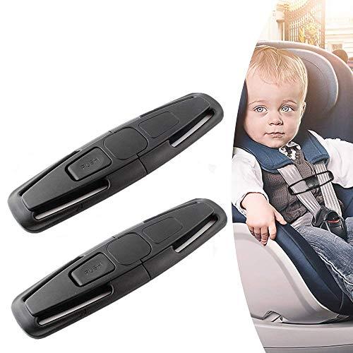 obqo 2 Packs Car Safety Seat Strap Belt Lock Tite Harness Clip Safe Buckle...