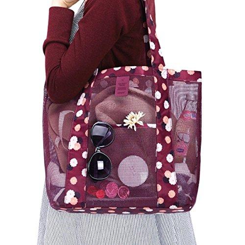 ZUMUii Butterme Mode Portable Sac de Plage Mesh Sac d'épaule Sac fourre-Tout en Maille pour Filles de Femmes
