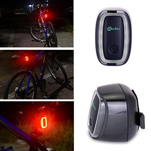 WOLFTEETH リアライト サイクリングライト 自転車 補助 USB充電 セーフティ LEDライト ダブル感応 テール...
