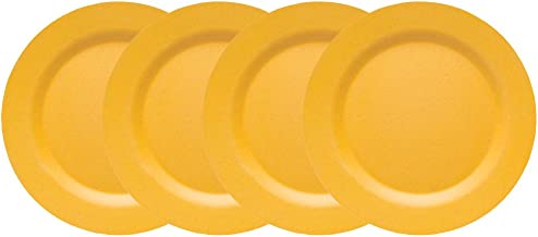 Now Designs Ecologie Dinner Plates, Orange, Set of 4