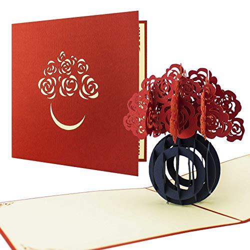 Carte fêtes de mères ou Saint valentin pour les amoureux. Carte anniversaire pop up 3d sur le thème de l'amour. Peut également être utilisée pour envoyer des vœux pour un mariage ou un anniversaire de mariage.