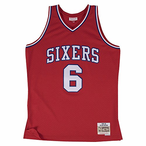 Mitchell & Ness Julius Erving Philadelphia 76ers NBA Throwback HWC Jersey - Red