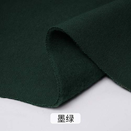 Trui katoenweefsel, katoen plus fluweel verdikte geborstelde stof, kledingstof, 1M-Donkergroen