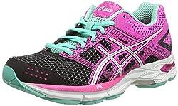 Asics Gel-Phoenix 7, Women's Running Shoes, Black (Black / White / Pink Glow 9001), 38 EU