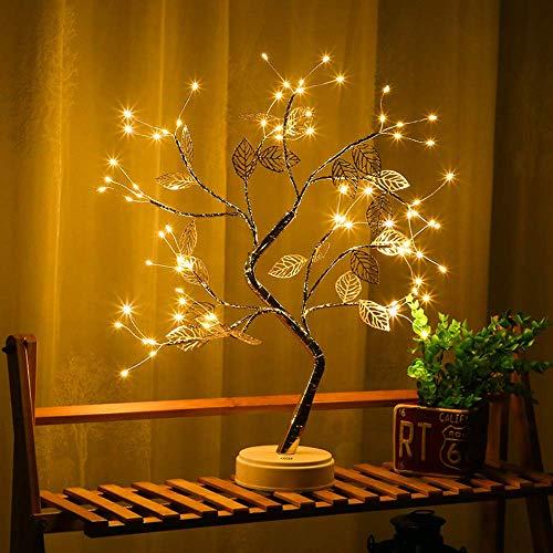 Luminária de LED para árvore de bonsai WESSD, luzes artificiais para árvore de bonsai para presente, casa, casamento, festival, férias, festa de Natal
