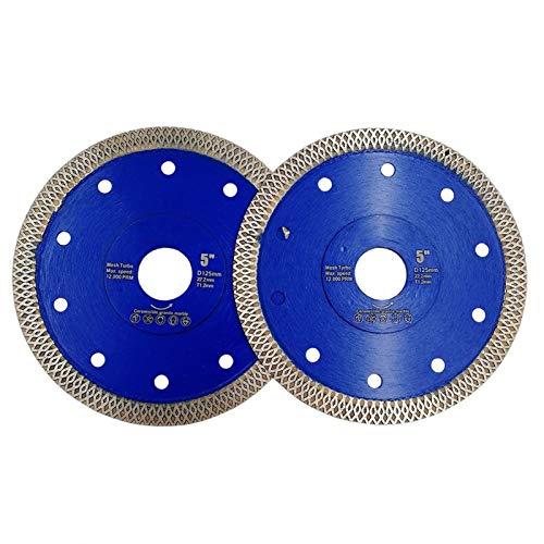 SHENGYUAN 2units Dia 5 Pulgadas / 125 mm presurizado en Caliente de Malla Turbo Diamante Hoja de Sierra de Diamante Altura 10MM Disco de Corte de la baldosa cerámica