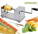 Best Spiral Slicers - RioRand® Manual Stainless Steel Twisted Potato Slicer Spiral Review