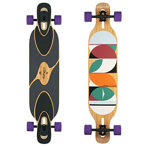 Loaded Dervish Sama Flex 2 New 2015 Graphic Complete Longboard With Paris V2 Trucks, Orangatang Stimulus Wheels by Loaded