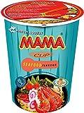 MAMA Instant-Cup-Nudeln Meeresfrüchte – Instantnudelsuppe orientalischer Art – Authentisch thailändisch kochen – Enthält Gabel – 2 x 8 Stück, 70 g (Lebensmittel & Getränke)