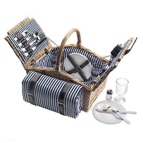 Dutch Mountains - Picknickkorb Deluxe 4-Personen 24-teilig mit Kleid – Ausverkauf