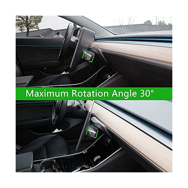 screen rotating bracket for tesla model 3 model y 2016-2021, upgrade central control gps navigation touchscreen holder…