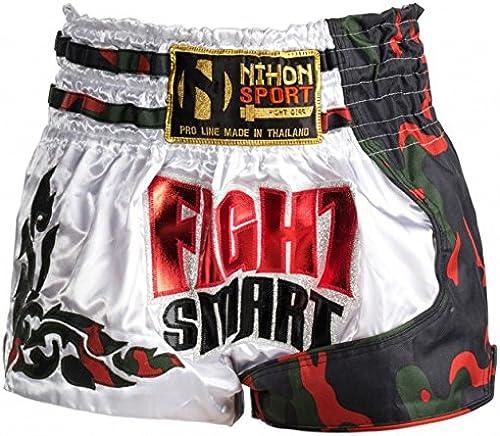 Pantalon de Kick Boxing Thai Fight intelligent hommes Blanc Taille XL