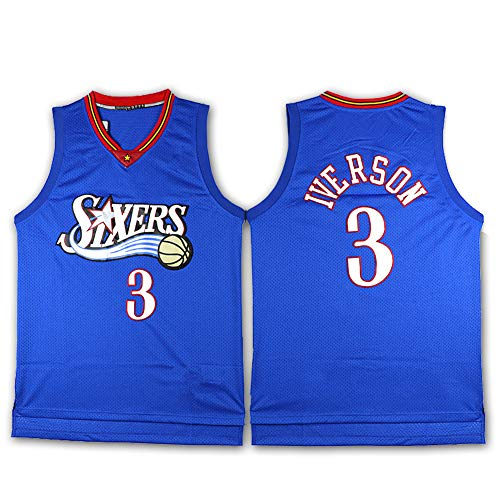 Iverson Basketball Trikot Legendary Player Philadelphia 76ers Herren Sport Atmungsaktiv Top XXL farbe