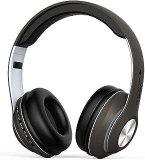 Auriculares Diadema, Cascos Bluetooth Inalambricos Plegable con Micrófono, Auriculare Cerrados Over-Ear, Hi-Fi Sonido Esté...