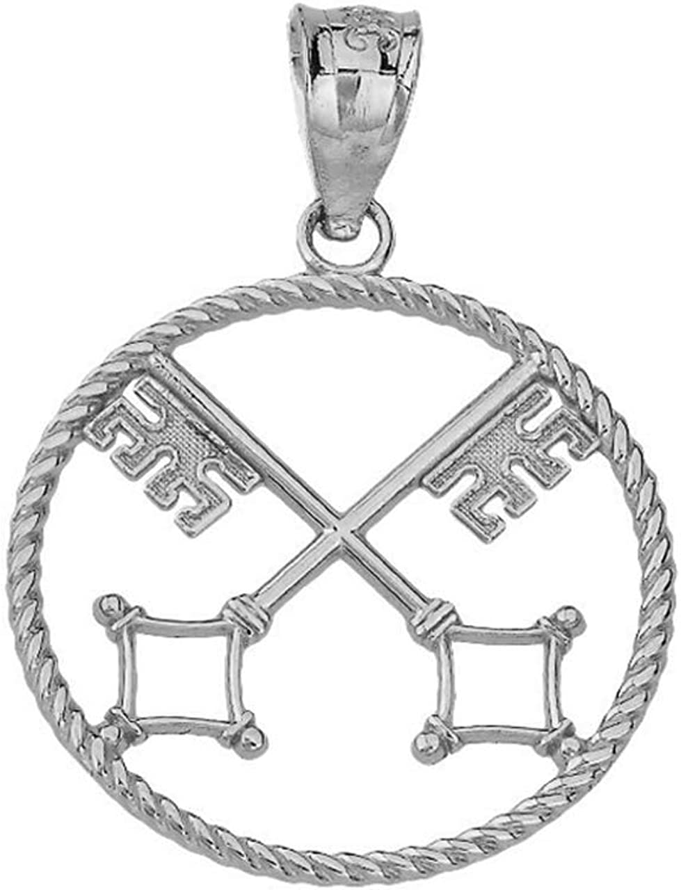Certified 10k Gold Openwork St Peter 5 ☆ popular P Rope Keys of Heaven Charm Special Campaign