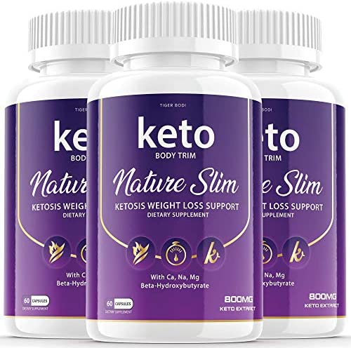 3 Pack Keto Body Trim Nature Slim Shark Tanks Pills Ketosis Weight Loss Pills Diet Advanced product image