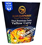 Blue Elephant brand Royal Thai Cuisine YELLOW CURRY PASTE Wt. 70 g.(Halal Certified) By naveenana shop