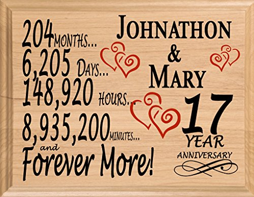Personalized 17 Year Anniversary Art