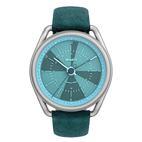 What? Perpetual Kalender Uhr: Hybrid Digital Analog Smart Uhr Armbanduhr,  Blau