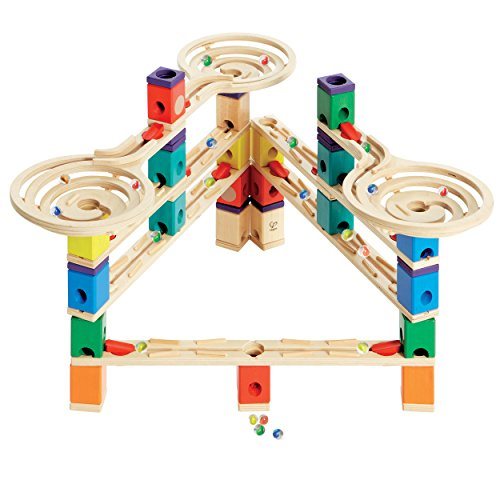 Hape Quadrilla Wooden Marble Run Construction - Vertigo - Quality Time Playing Together Wooden Safe Play - Smart Play for Smart Families