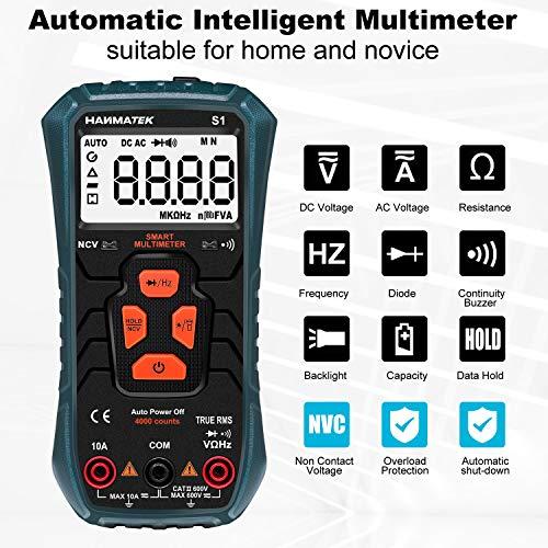 Multímetro Digital Inteligente, HANMATEK S1 Automático Polimetro Digital,...