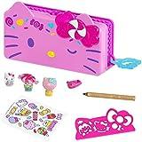 Hello Kitty Astuccio per Matite, si Trasforma in Playset Luna Park con 2 Mini Personaggi, Giocattolo per Bambini 3+Anni,GVC41