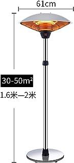 LKK-YSZWJ Calentador Eléctrico de Halógeno de Aluminio, Estufa de pie de Exterior,Jardín Independiente Patio luz Exterior,Elegante Diseño Resistente A la Intemperie,44x44x200cm (Size : B 61X160CM)