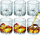 Bezrat Double Old Fashioned Glasses – Set of 6 DOF Glass - Drinking Glassware for Water, Juice, Whiskey, Scotch, Bourbon - Heavy Base – 12 oz