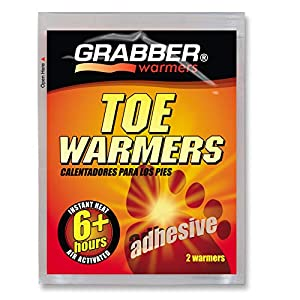 Grabber Toe Warmers - Natural Odorless Air Activated Warmers - 8 Hours of Heat - 8 Pairs