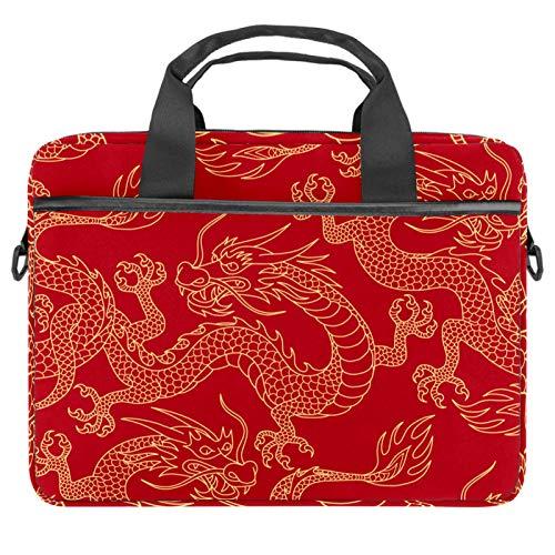 Bolsa para portátil con asa de 13,4 a 14,5 pulgadas, diseño de elefantes, color rosa y gris