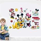 Kibi adesivi Muro Minnie Disney Adesivi Muro Mickey Mouse Adesivo Da Parete Minnie Camera Da Letto Bambini Stickers Muro Bambini Mickey Mouse Adesivi Muro Topolino Disney