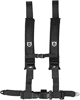 Pro Armor A16UH349BL Auto Style 4 Point Harness 2 Inch Lap Seat Belt Straps Black Passenger Side