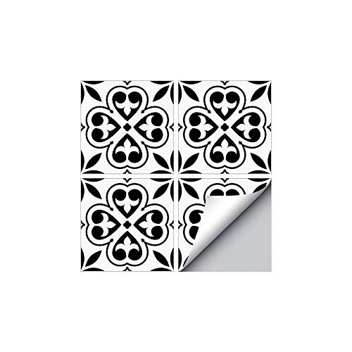 HADAIZI Fliesensticker Fliesenaufkleber Fliesenfolie Klebefolie autoadhesiva para baldosas Klebefliesen Deko película de alta calidad para cocina y baño baldosas Deko negro y blanco