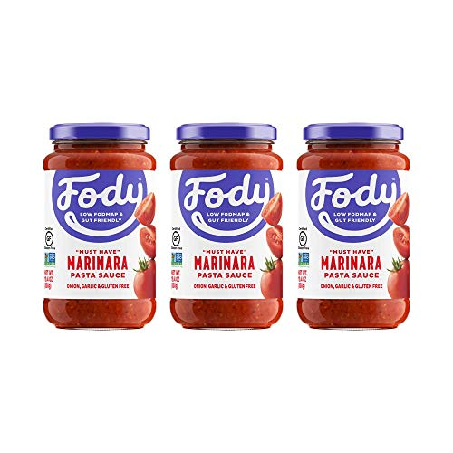 Fody Food Co, Marinara Pasta Sauce, Low FODMAP and Gut Friendly, Gluten and Lactose Free, Garlic and Onion Free, 3 Pack