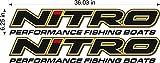Nitro Boats Logo/Pair / 36' Vinyl Watercraft Power Sports Graphic Sticker Decals