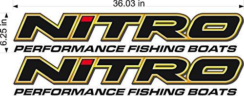 """Nitro Boats Logo/Pair / 36"""" Vinyl Watercraft Power Sports Graphic Sticker Decals"""